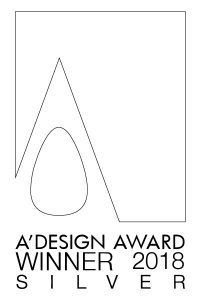A'Design Award winner 2018 silver logo